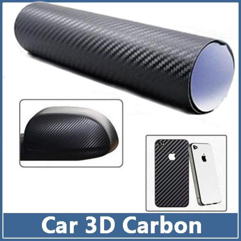 Наклейка лист 3D карбон 410х670...