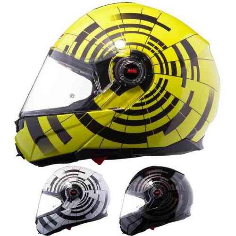 LS2 Шлем модуляр FF386 ABYSS, Black-hi-...