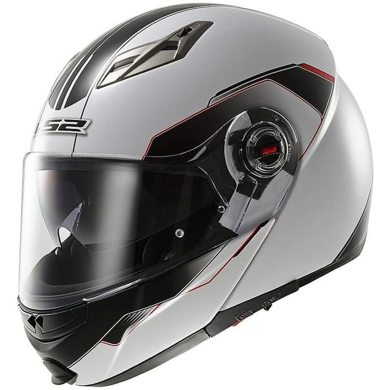 LS2 Шлем модуляр FF370 SHADOW, White Р...