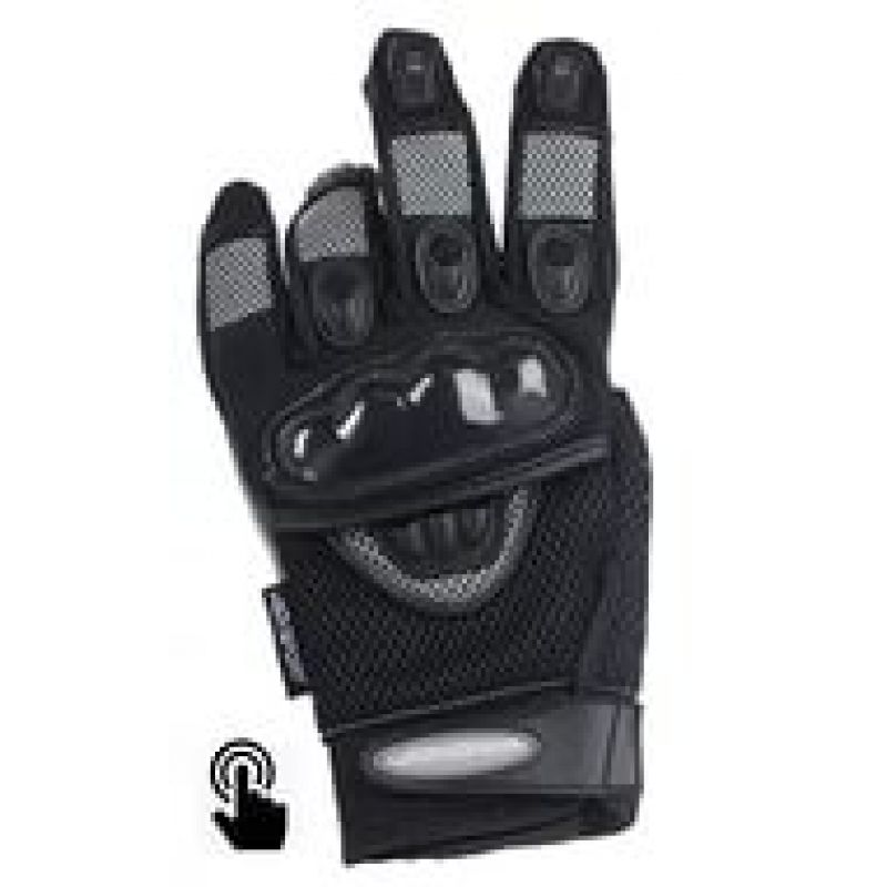 AGVSPORT Перчатки текстиль MAYHEM TOUCH, черные (M)