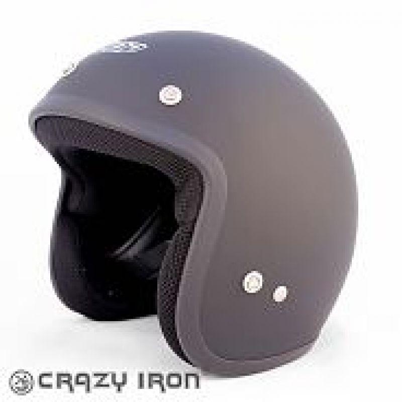 ALLTOP Шлем открытый AP-75 SOLID BLACK MAT, матовый (M)