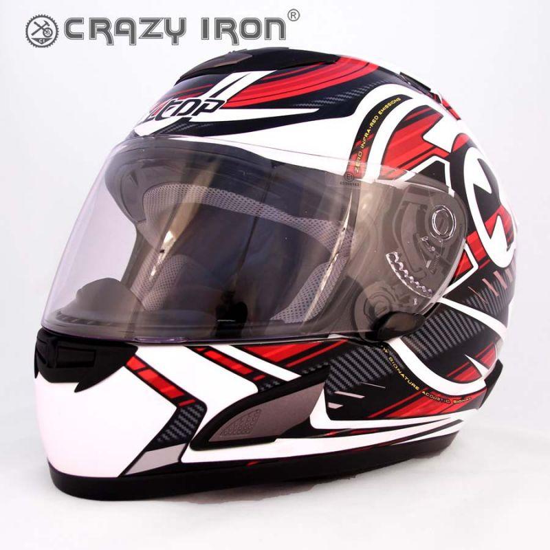 ALLTOP Шлем интеграл RADIOHEAD, бело-красный Размер: 2XL
