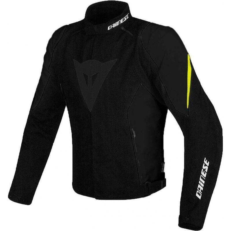 Dainese Laguna Seca D1 D-Dry Jacket -black/black/y...