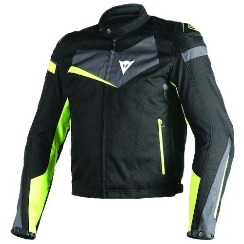 DAINESE VELOSTER TEX JACKET BLACK/EBONY/FLUO-YELLO...